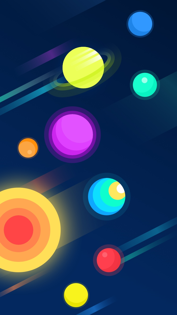 Minimalist Car Wallpaper Colorful Planets Iphone Wallpaper Iphone Wallpapers