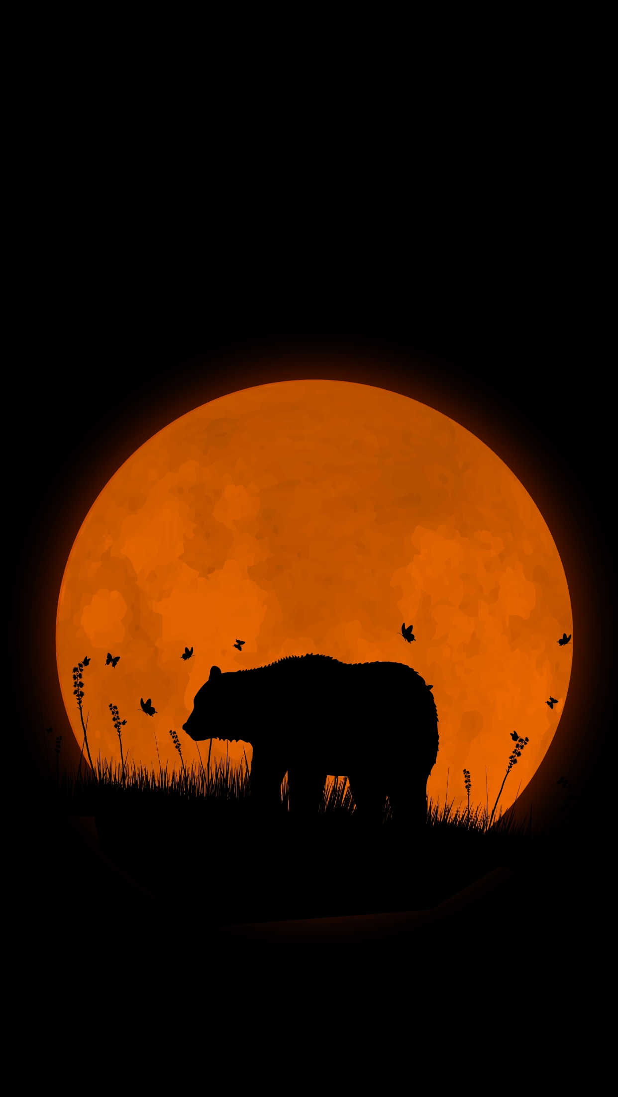 Wallpaper Cute For Phone Grizzly Bear Super Moon Iphone Wallpaper Iphone Wallpapers