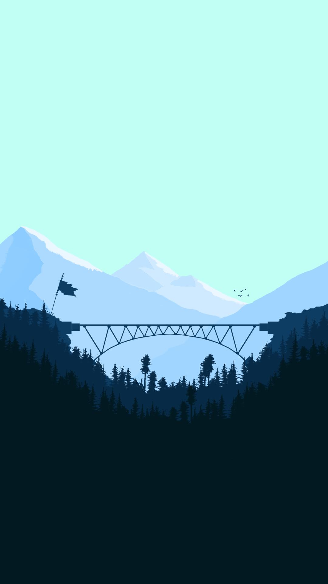 Animated Christmas Desktop Wallpaper Minimal Bridge Digital Art Iphone Wallpaper Iphone