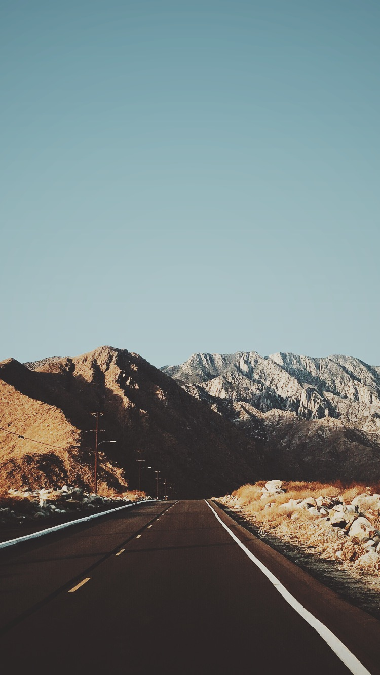 Blue Wallpaper Iphone 6 Road Mountains Usa Iphone Wallpaper Iphone Wallpapers