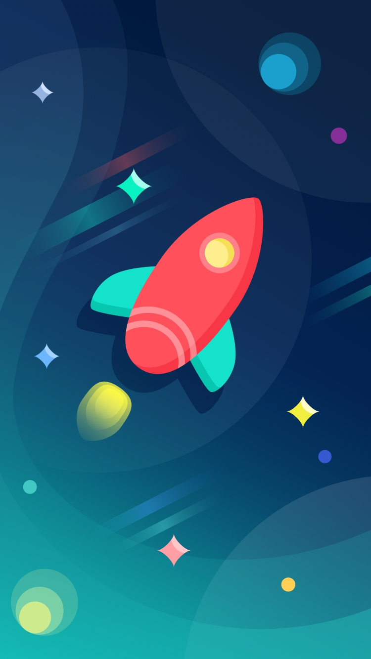 Cute And Cool Wallpapers For Iphone Rocket Ship Colorful Space Iphone Wallpaper Iphone