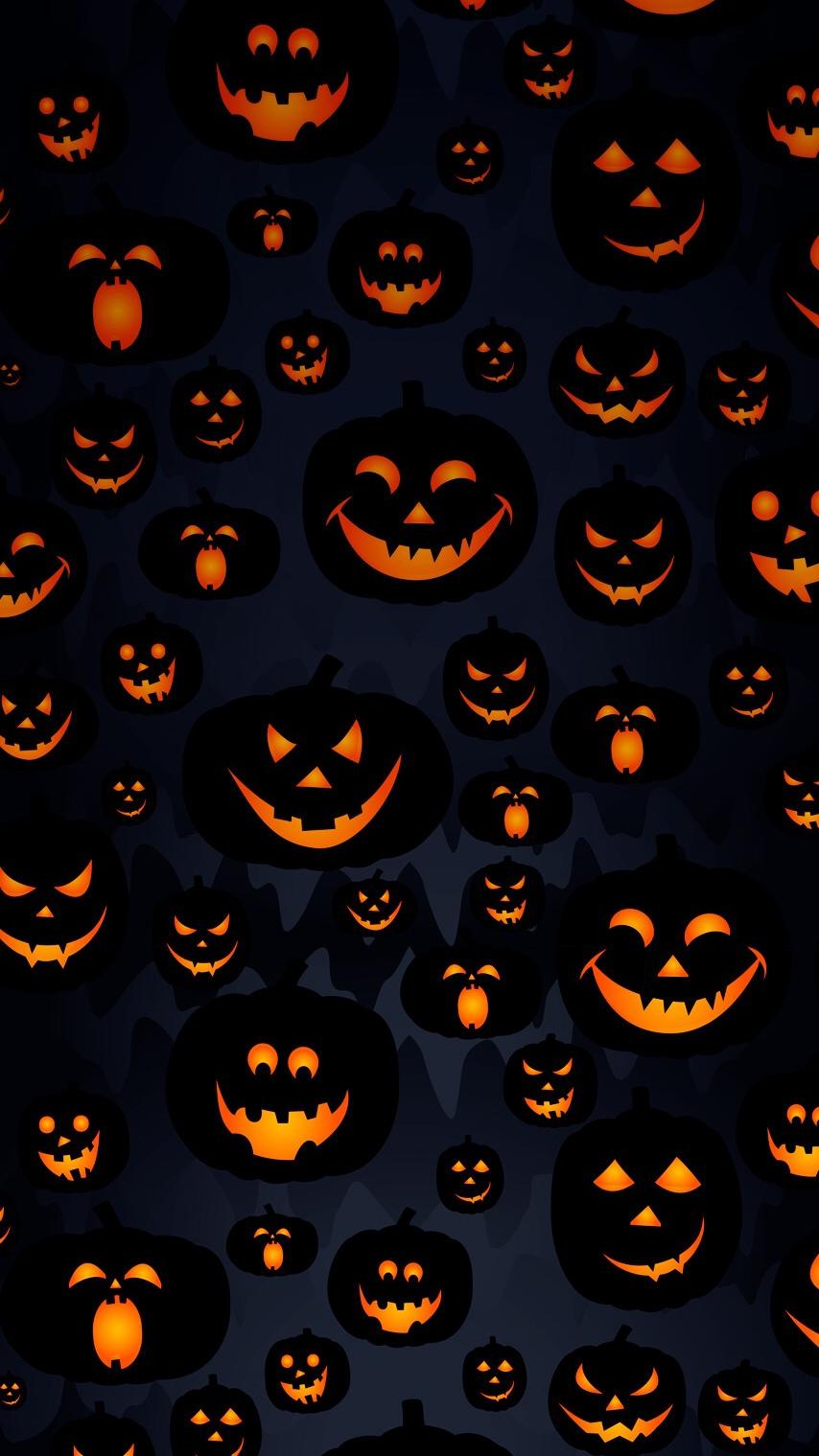 Cute Anime Love Phone Wallpaper Scary Halloween Pumpkin Masks Iphone Wallpaper Iphone
