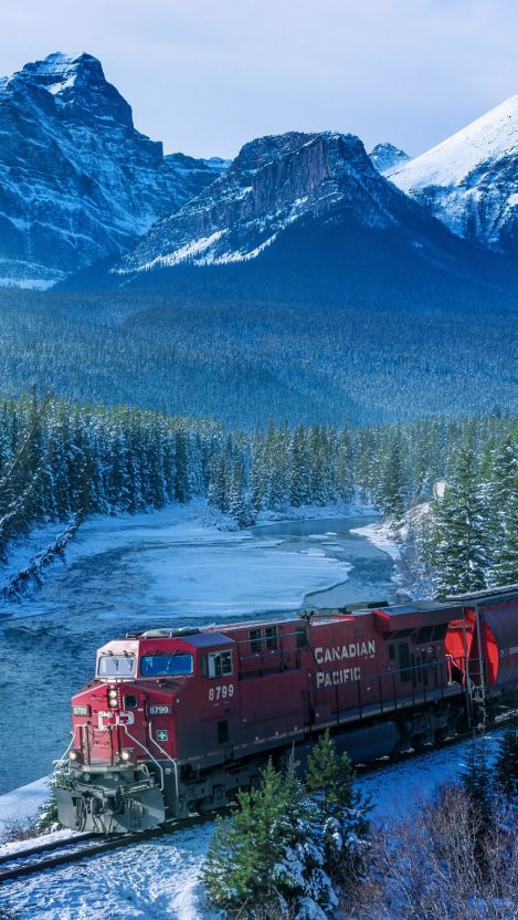 Halloween Wallpapers Cute Canadian Pacific Train Winters Iphone Wallpaper Iphone
