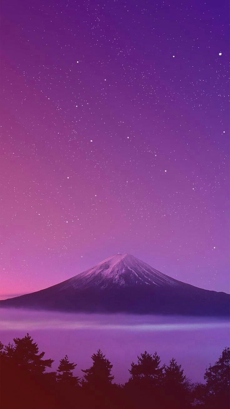 Cute But Sad Wallpaper Mount Fuji Japan Sunset Iphone Wallpaper Iphone Wallpapers