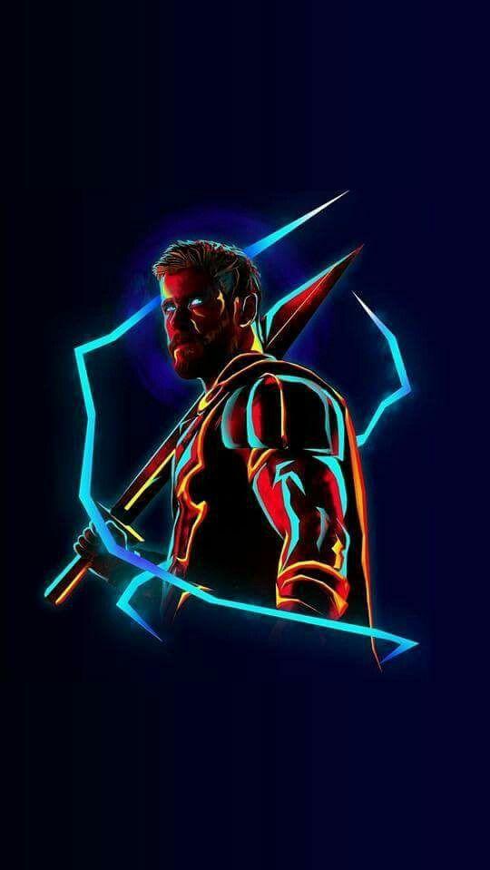 Neon Quotes Wallpaper Thor Neon Avengers Infinity War Iphone Wallpaper Iphone