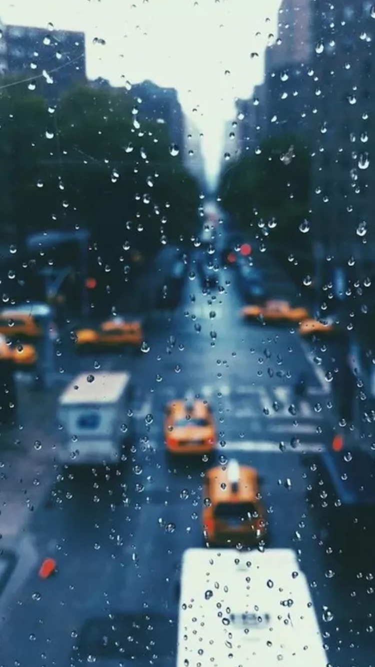 Home Screen Cute Wallpapers For Girls Raindrops Over Glass New York Iphone Wallpaper Iphone