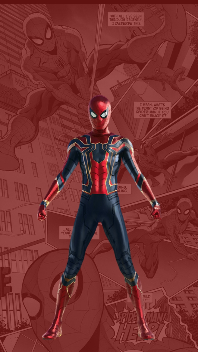 Iphone Wallpapers Com Spider Man New Suit Tom Holland Iphone Wallpaper Iphone