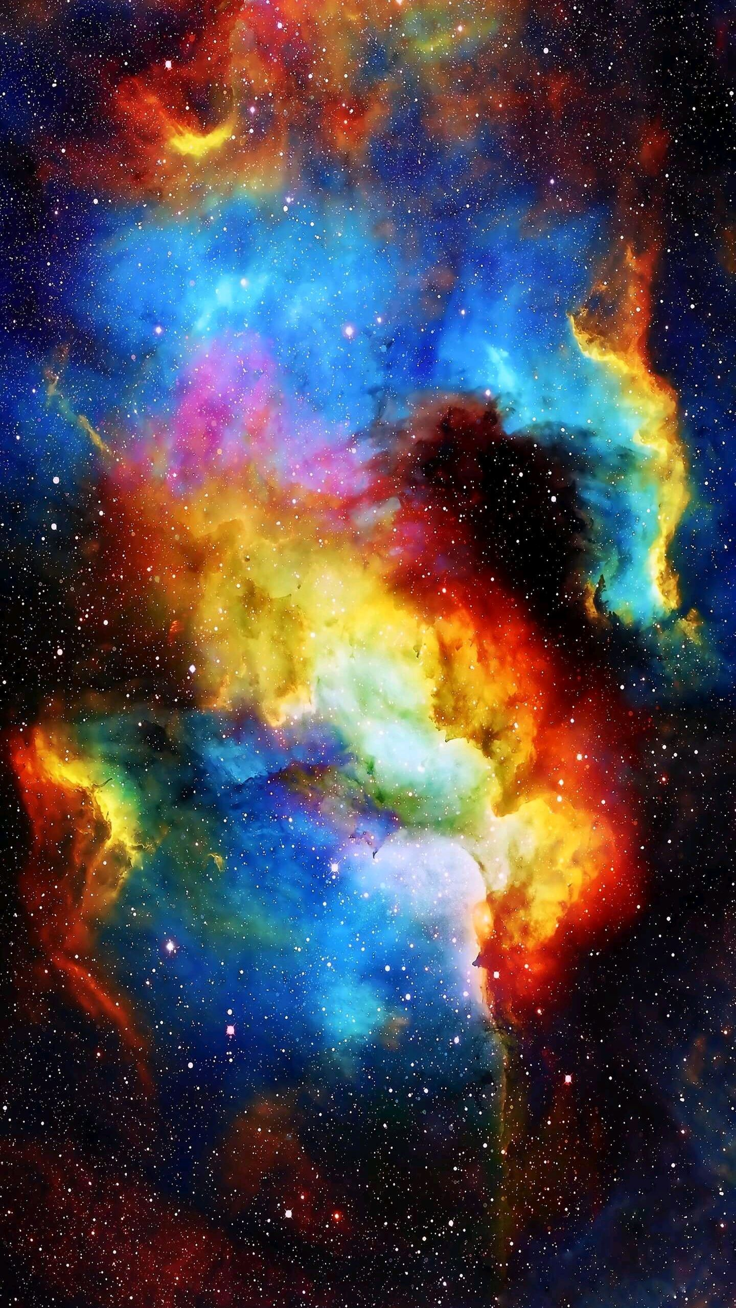 Artistic Quotes Wallpaper Colorful Galaxy Nebula Space Iphone Wallpaper Iphone