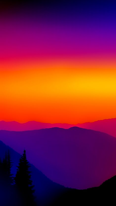 Artistic Quotes Wallpaper Colorful Sunset Mountains Mist Iphone Wallpaper