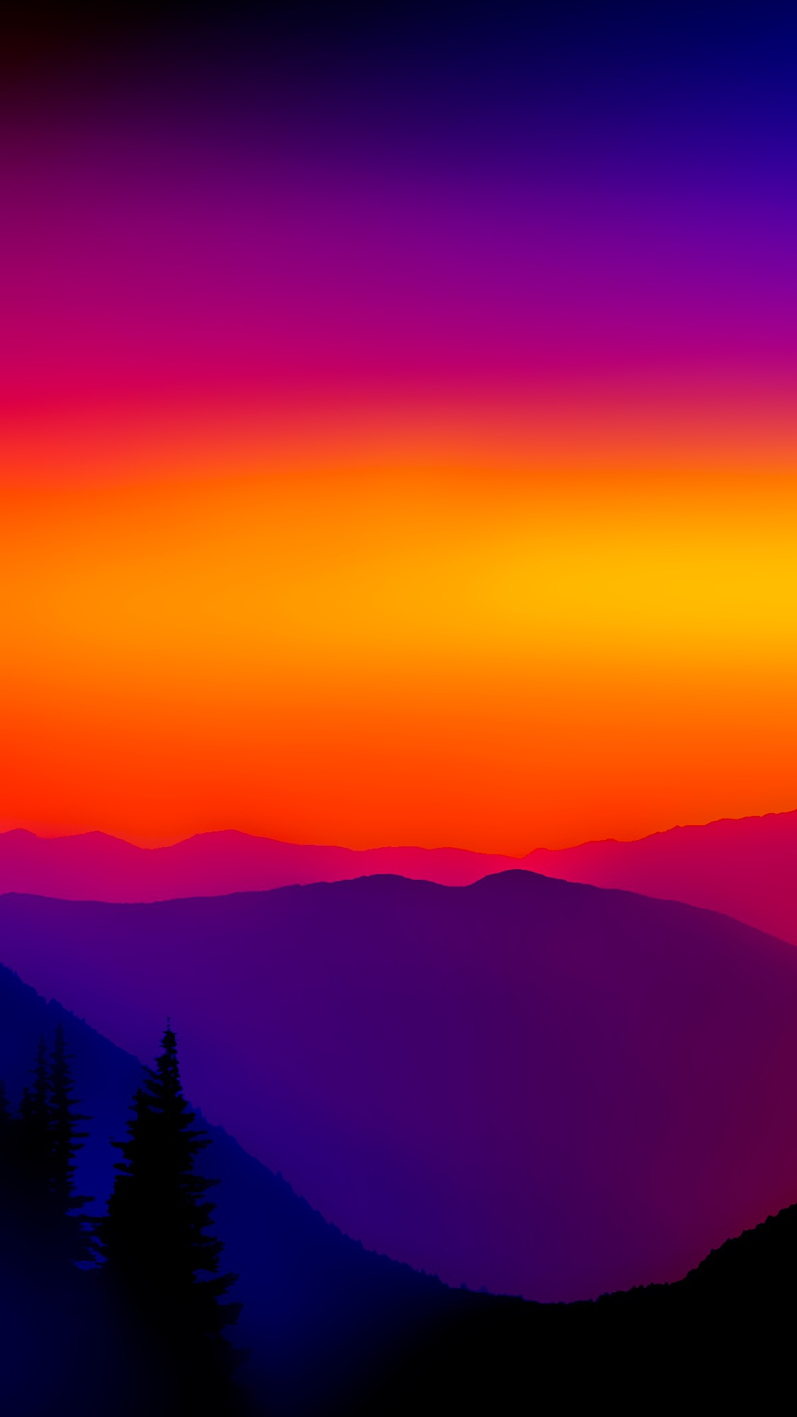 Wallpaper Cute For Phone Colorful Sunset Mountains Mist Iphone Wallpaper