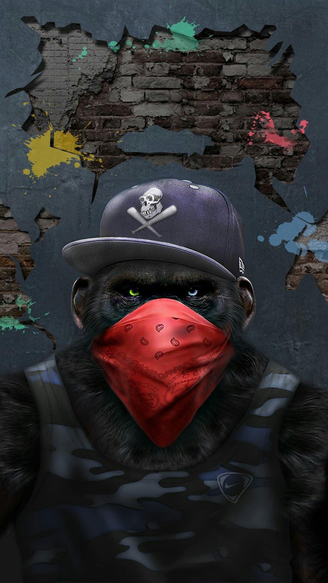 Dope Wallpapers Hd Gangster Monkey Iphone Wallpaper Iphoneswallpapers Com