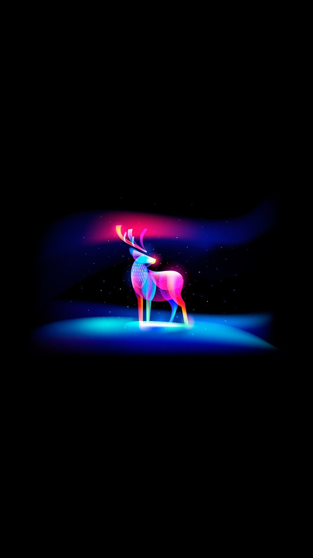 Cute Funny Wallpaper Images Neon Art Deer Iphone Wallpaper Iphoneswallpapers Com