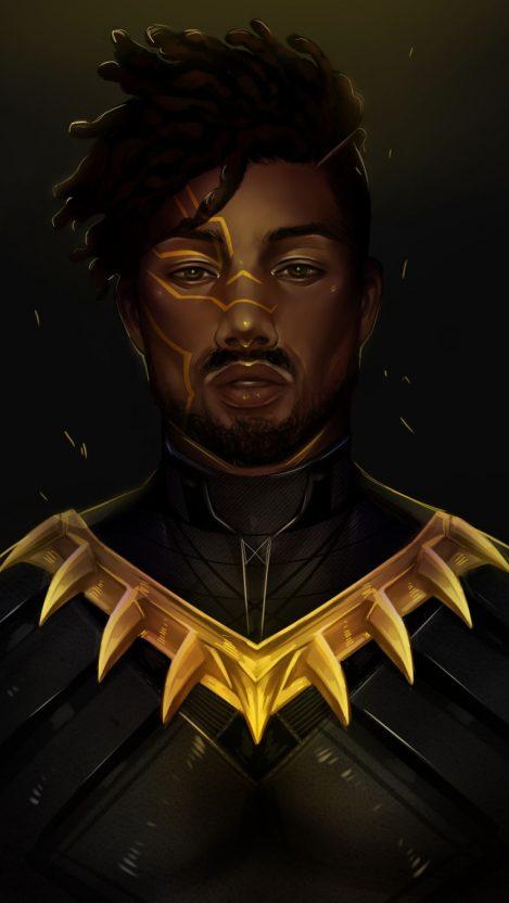 Iron Man Quotes Wallpaper Black Panther Killmonger Iphone Wallpaper Iphone Wallpapers