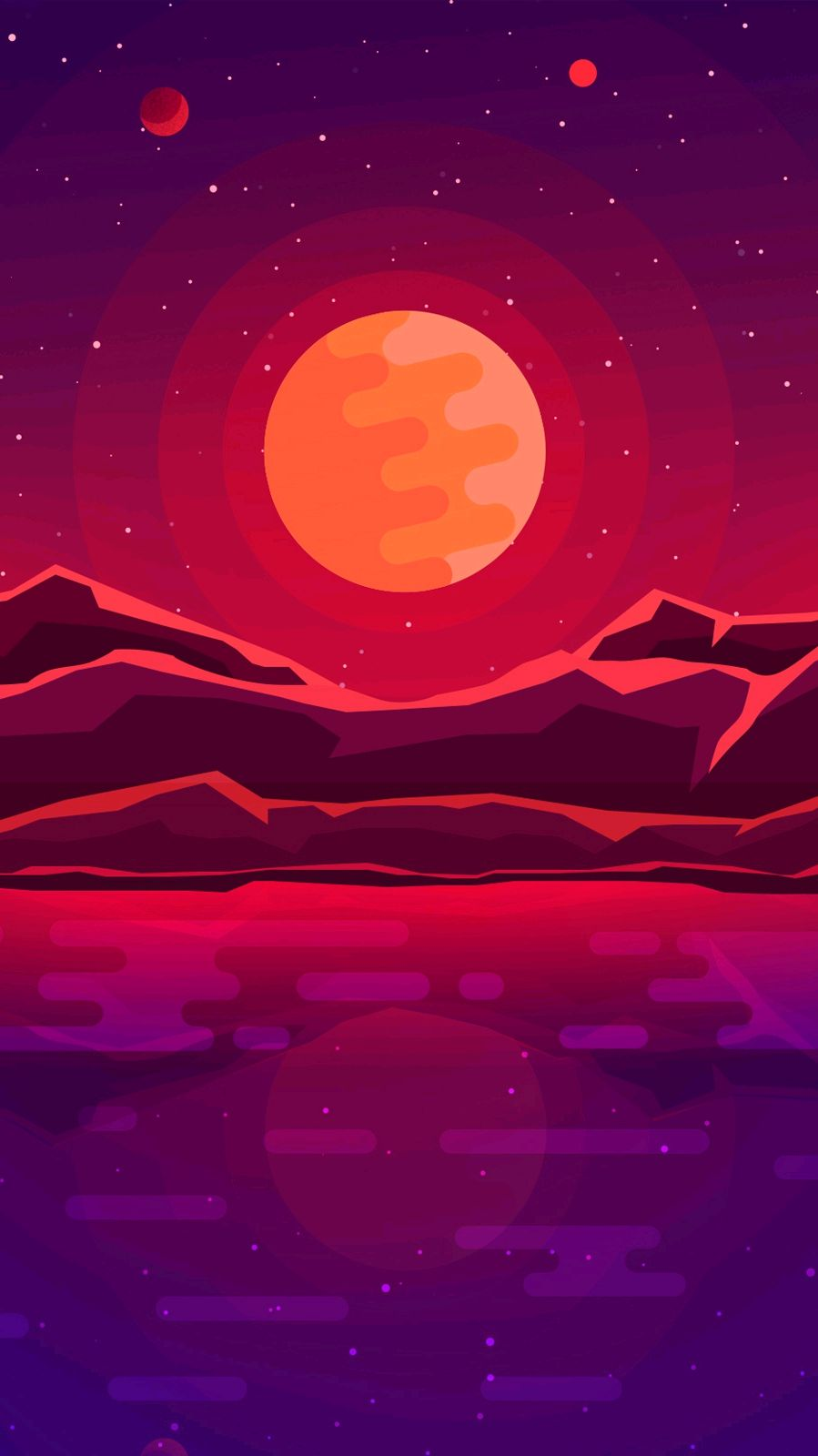 Images Of Cute Wallpapers For Phone Digital Sunrise Minimal Art Iphone Wallpaper Iphone