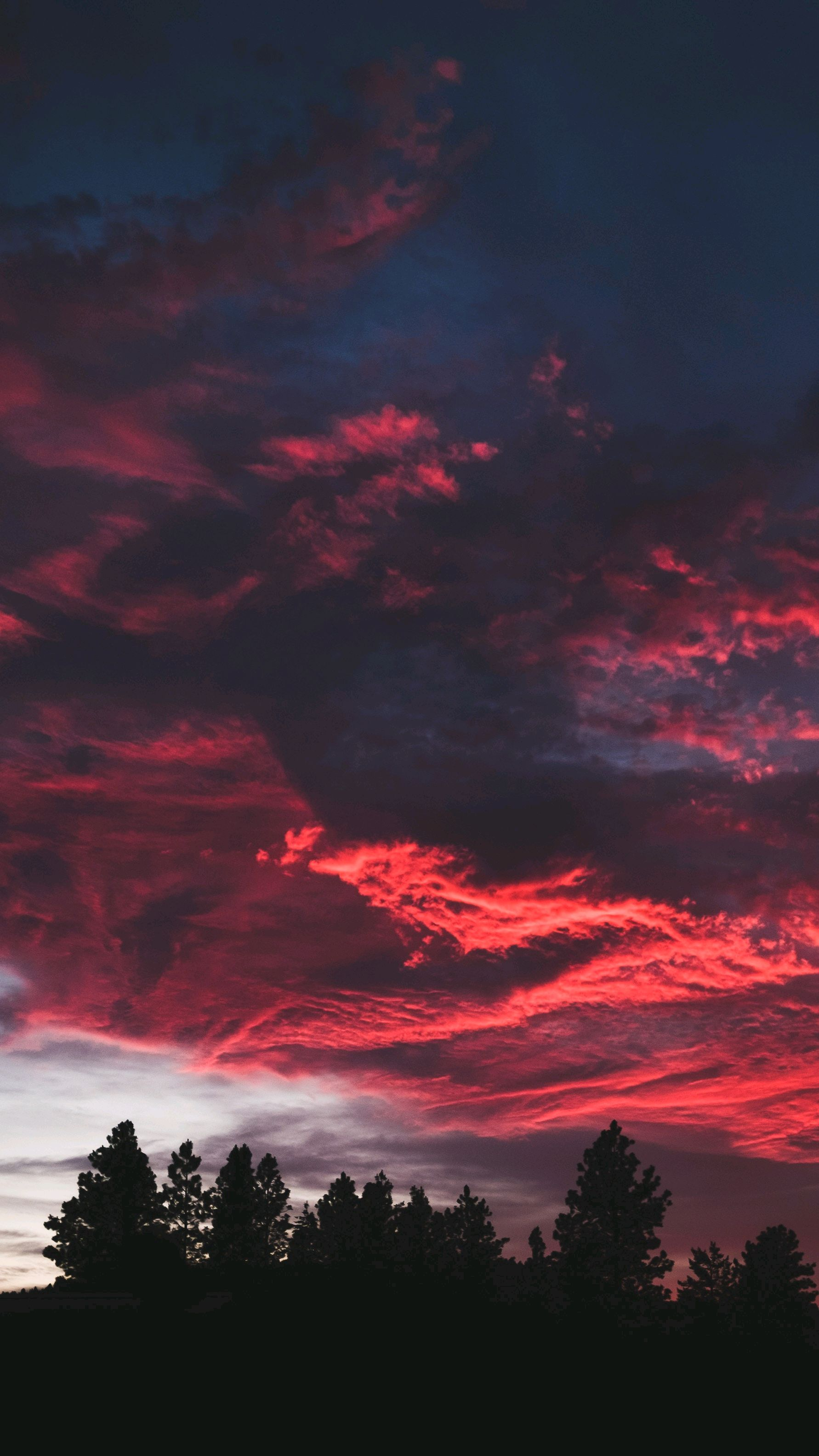 Cute Phone Wallpaper Download Red Clouds Sunset Nature Iphone Wallpaper Iphone Wallpapers