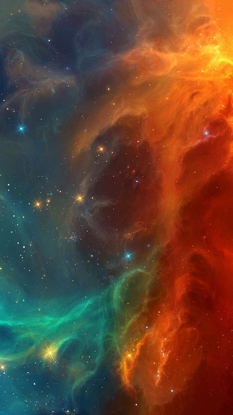Falling From Stars Wallpaper Space Stars Nebula Colors Iphone Wallpaper Iphone Wallpapers