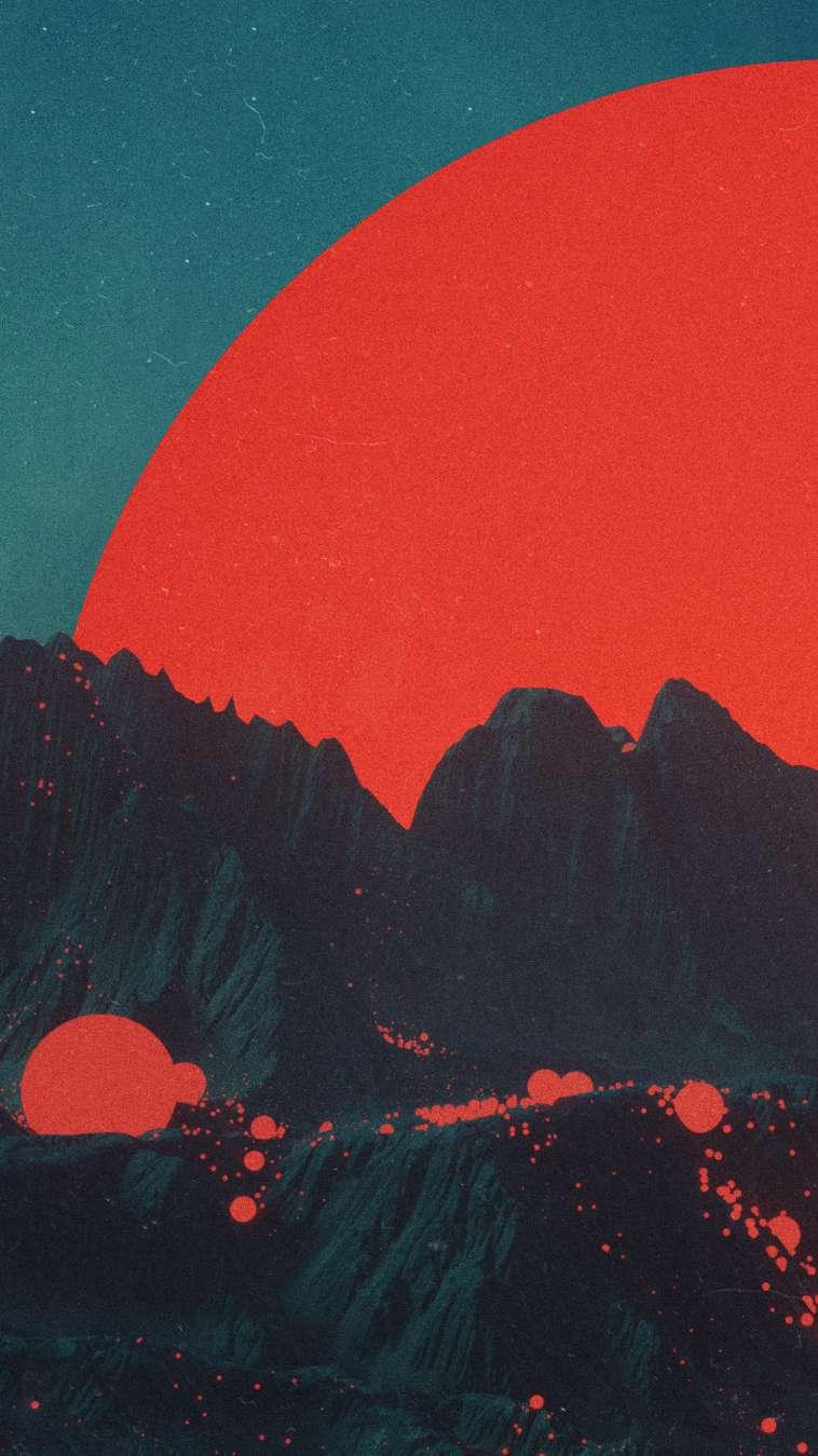 Cute Monster Wallpaper Iphone Volcano Mountains Art Iphone Wallpaper Iphone Wallpapers