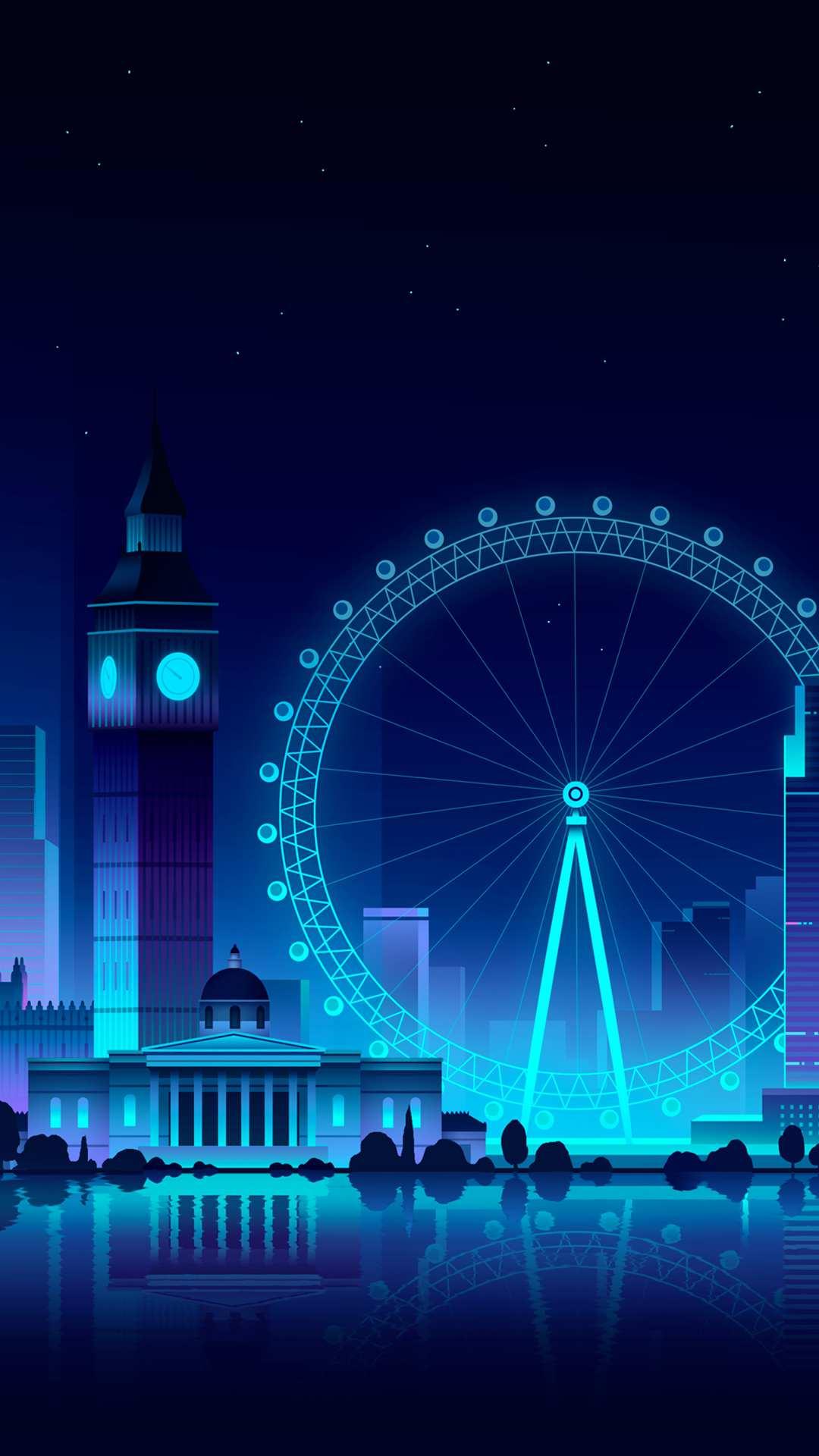 Cute Lights Wallpaper London Eye Ferris Wheel Iphone Wallpaper Iphone Wallpapers