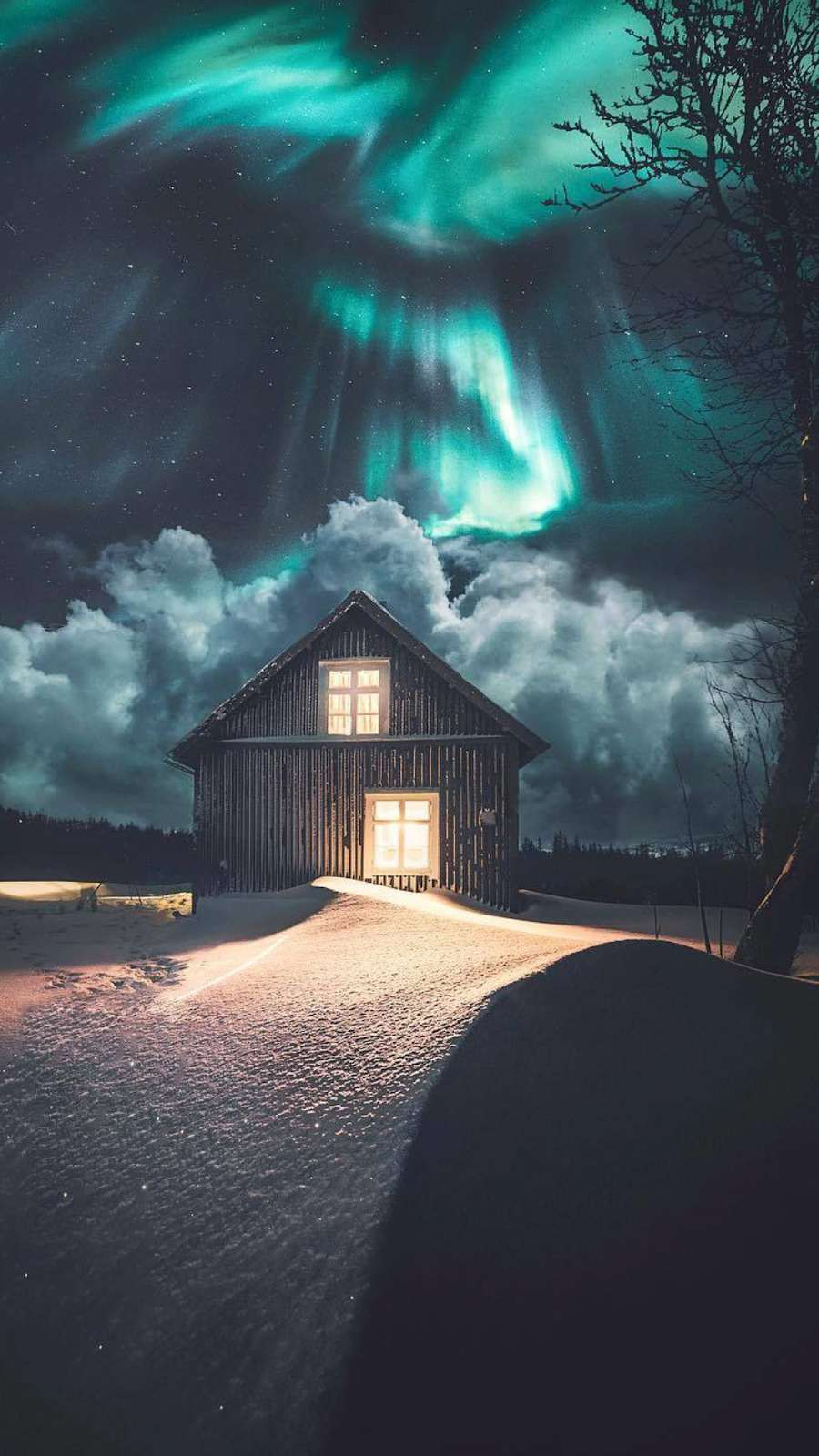 Artistic Quotes Wallpaper Beautiful Dreamy Night Winter Cabin Iphone Wallpaper