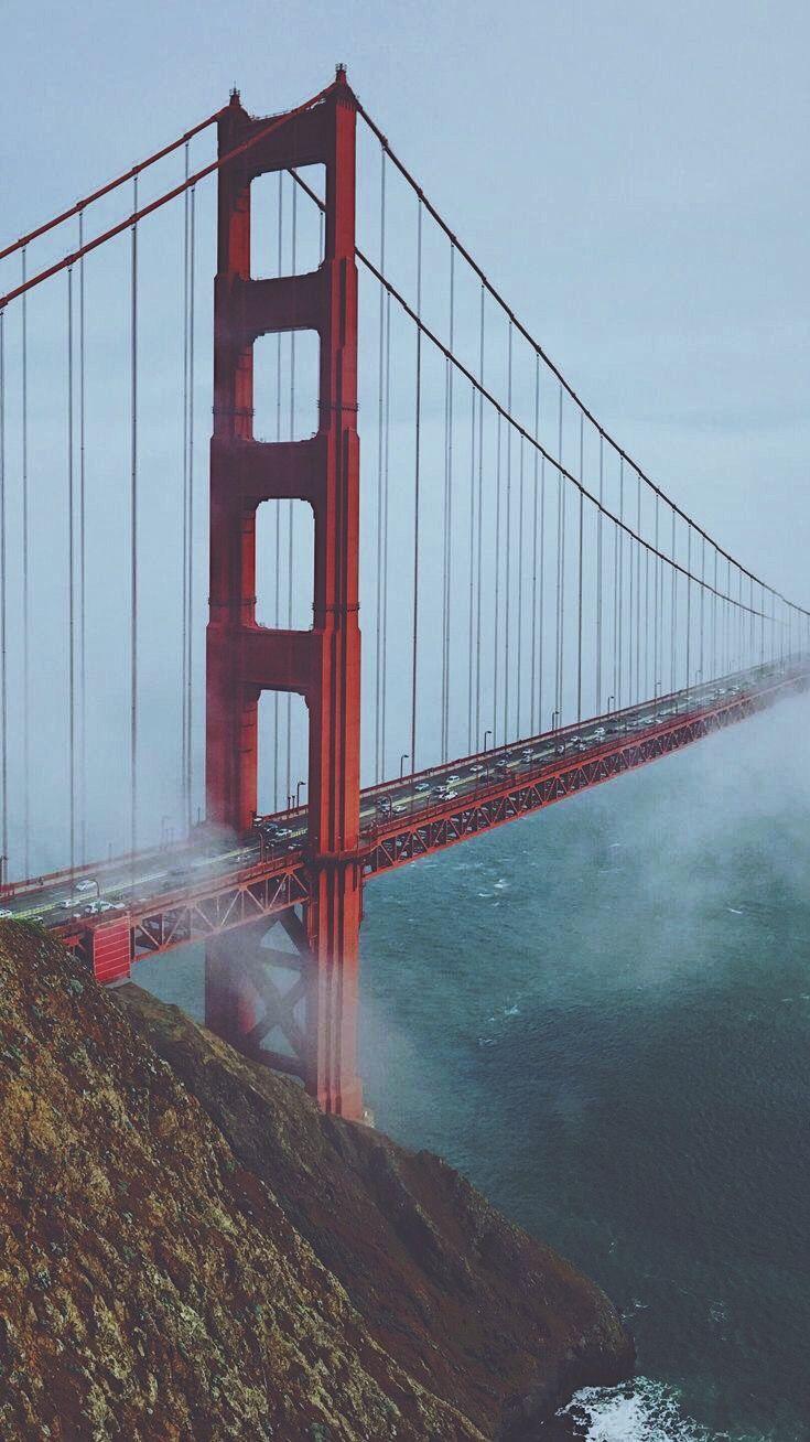 Golden Girls Desktop Wallpaper Golden Gate Bridge Morning View Mist Iphone Wallpaper
