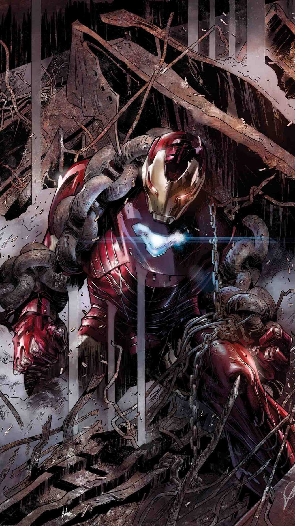 Artistic Quotes Wallpaper Iron Man Mark 50 Armour Fight Iphone Wallpaper Iphone