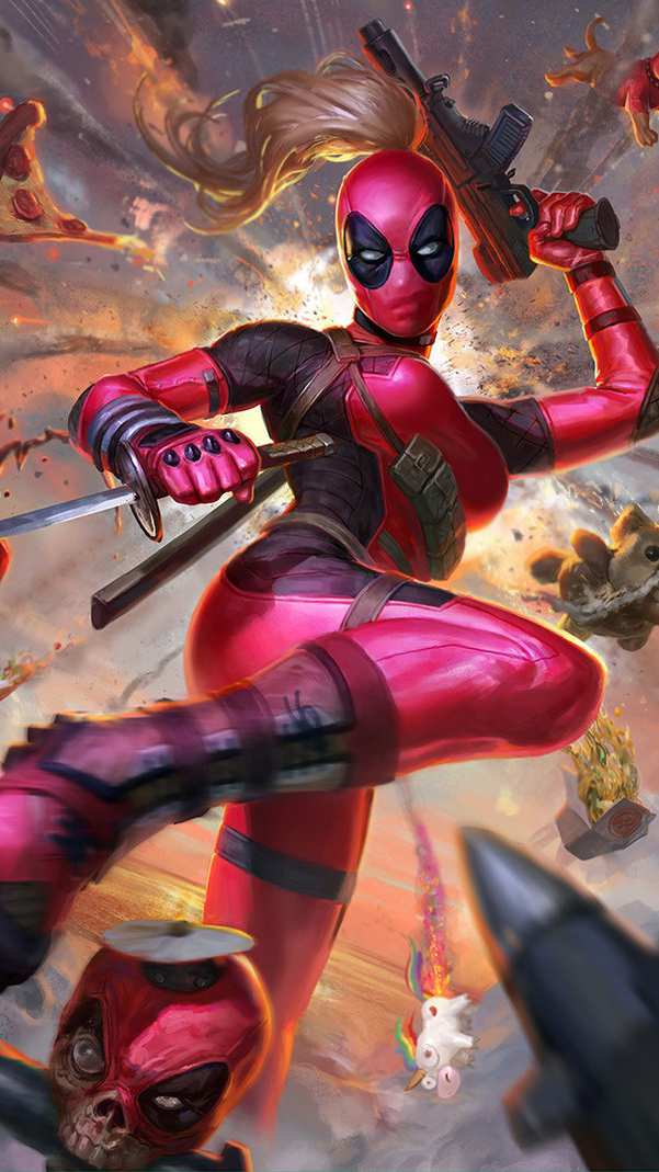 Pics Of Cute Christmas Wallpapers Lady Deadpool Iphone Wallpaper Iphone Wallpapers