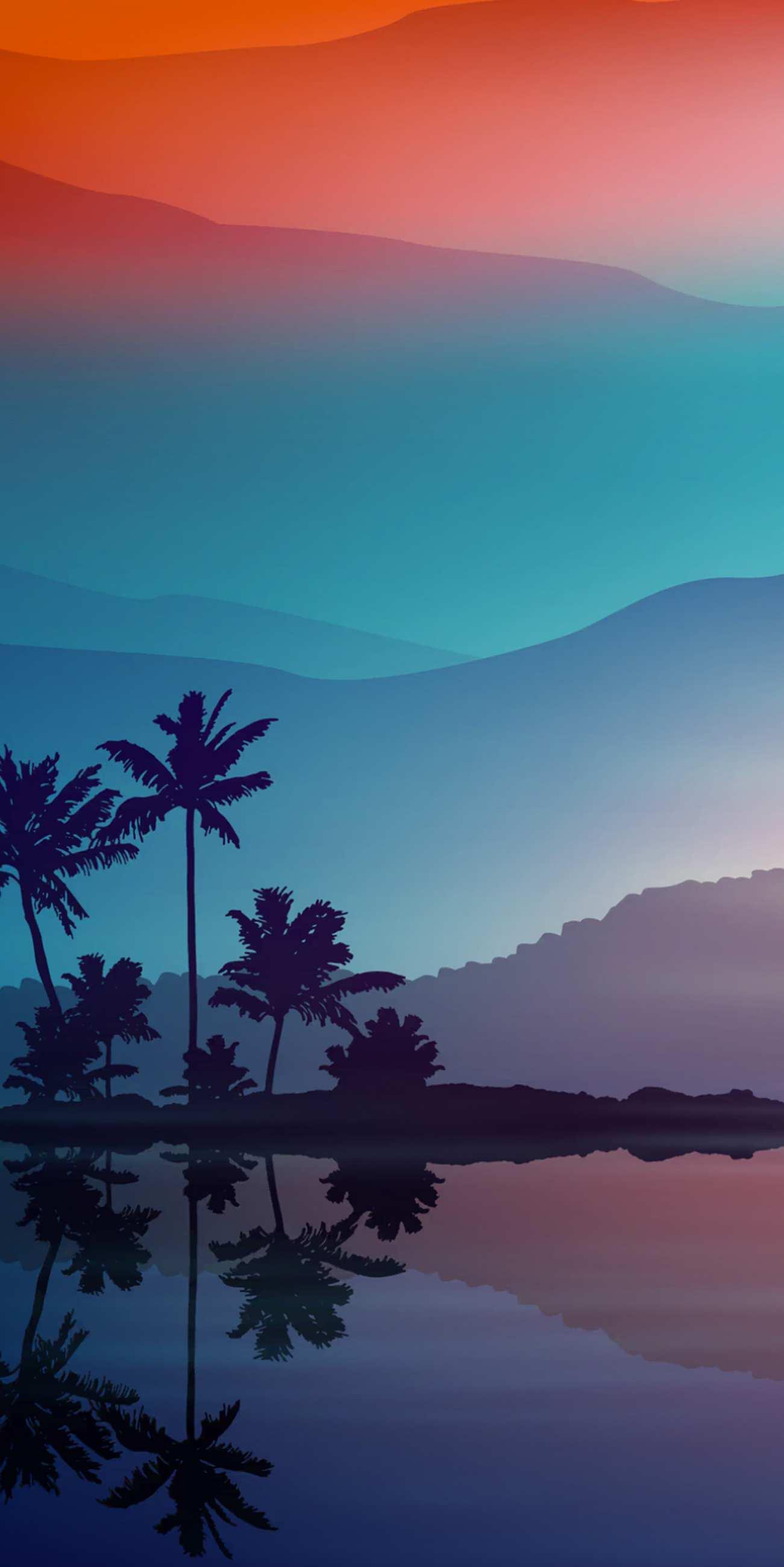 Anime Quotes Desktop Wallpaper Sunset Minimal Nature Palm Trees Iphone Wallpaper Iphone