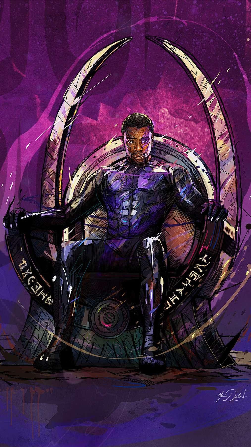 Cute Black Panther Wallpaper Black Panther King Of Wakanda Art Iphone Wallpaper