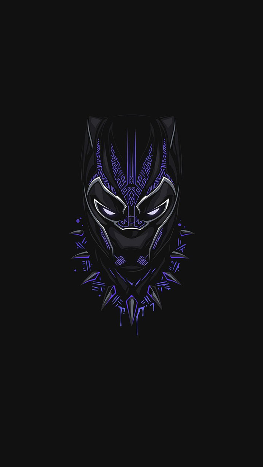 Cute But Psycho Iphone Wallpaper Black Panther Purple Minimal Iphone Wallpaper Iphone