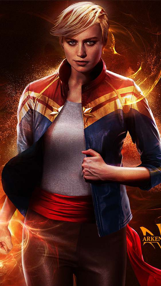 Cute Colorful Wallpapers For Iphone Brie Larson Captain Marvel Movie Iphone Wallpaper Iphone