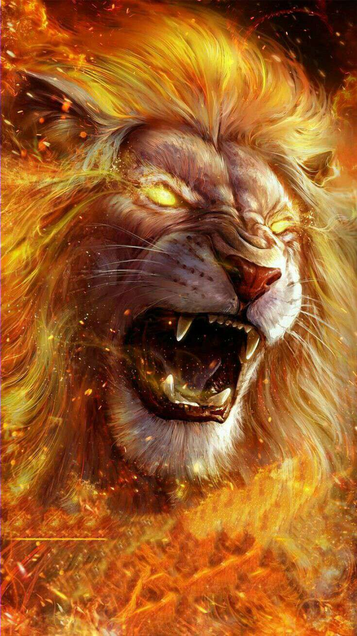 Lion on Fire iPhone Wallpaper  iPhone Wallpapers