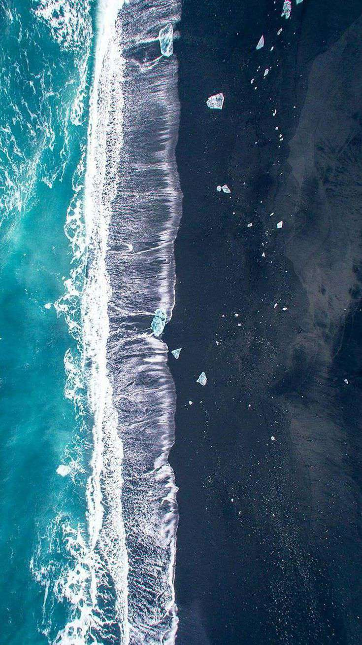 Home Screen Wallpaper Quotes Ocean Beach Waves Aerial View Iphone Wallpaper Iphone
