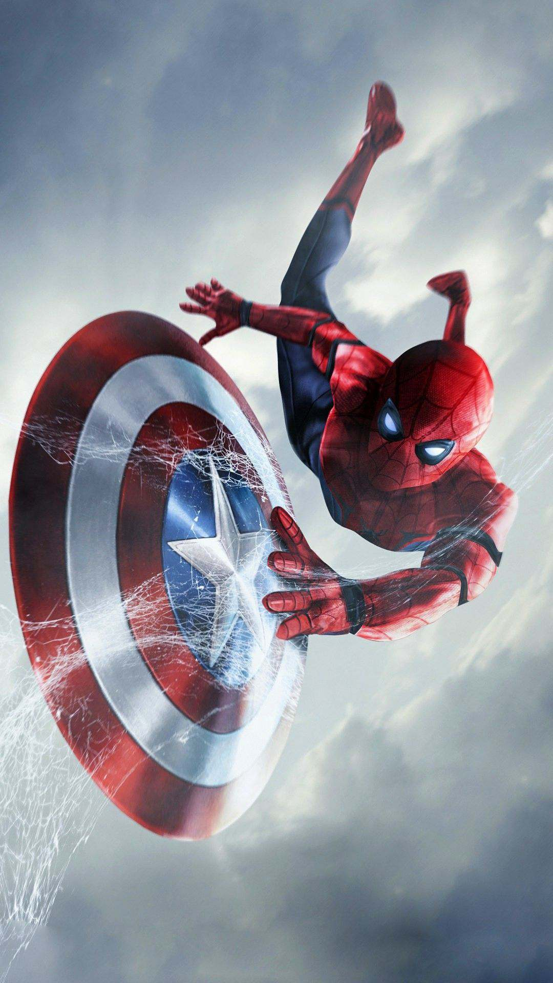Love Cute Wallpapers With Quotes Spider Man Captain America Shield Iphone Wallpaper