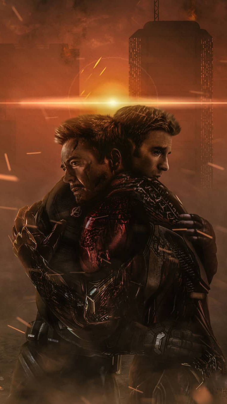 Focus Wallpaper Iphone X Tony Stark And Captain America Goodbye Iphone Wallpaper