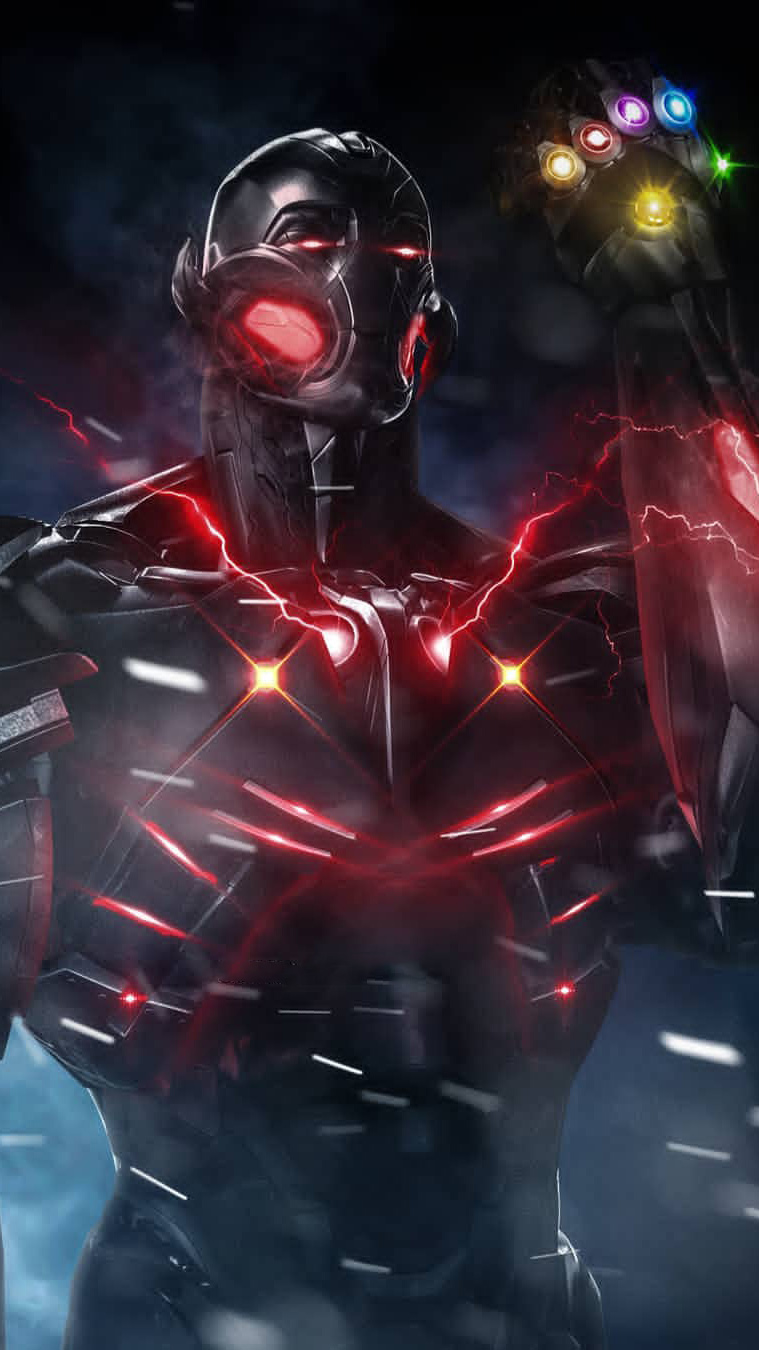 Black Panther Quotes Iphone Wallpaper Ultron With Infinity Stones Iphone Wallpaper Iphone
