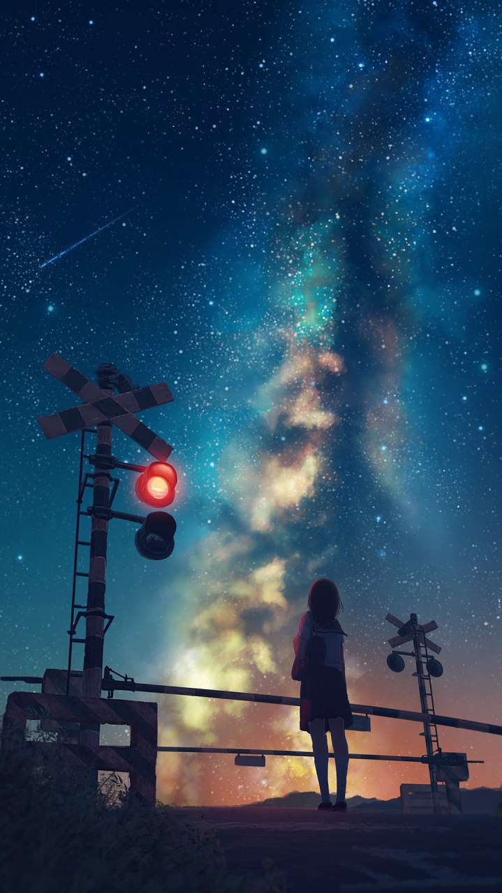 Ipad Animated Wallpaper Anime Universe Space From Earth Iphone Wallpaper Iphone