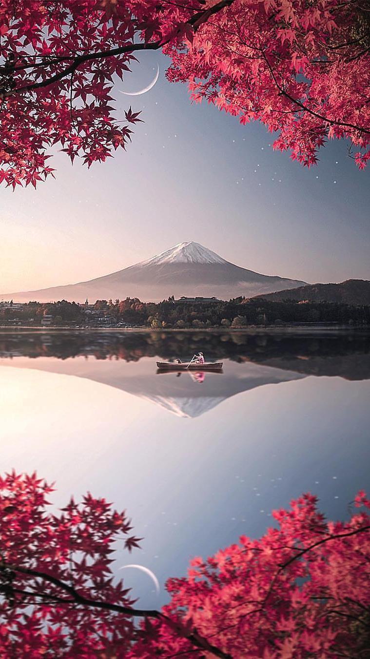 Cute Wallpapers For Phone Screen Japan Mount Fuji Nature Iphone Wallpaper Iphone Wallpapers