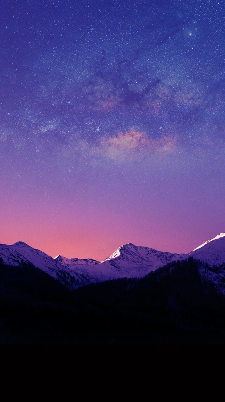 Iphone Wallpapers Com Mountains Night Winter Space View Iphone Wallpaper