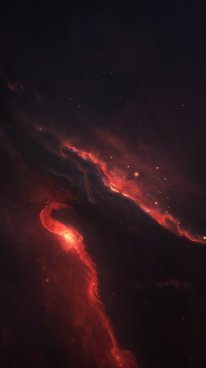 Cute Anime Alien Wallpapers Space Red Nebula Iphone Wallpaper Iphone Wallpapers