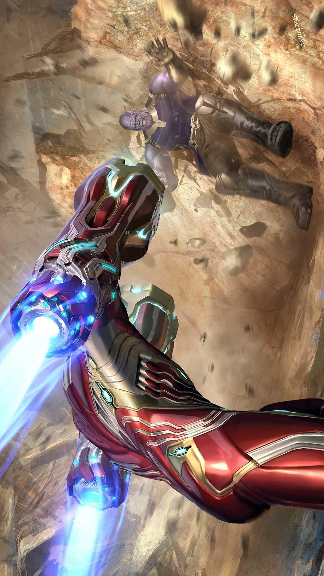 Anime Quotes Desktop Wallpaper Avengers Endgame Iron Man Vs Thanos Fight Iphone Wallpaper
