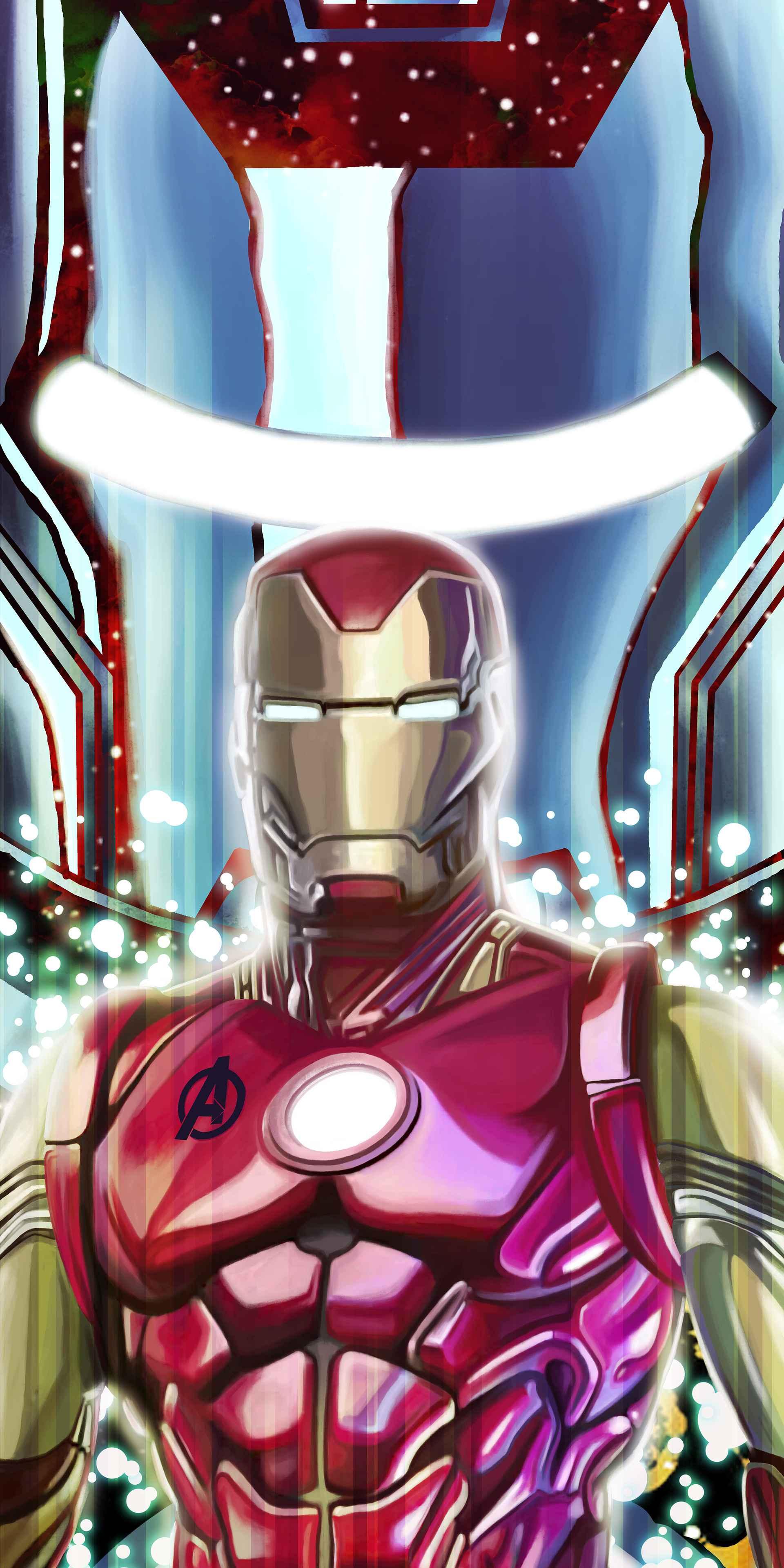 Animal Man Wallpaper Iron Man Mark 85 Armor Art Iphone Wallpaper Iphone