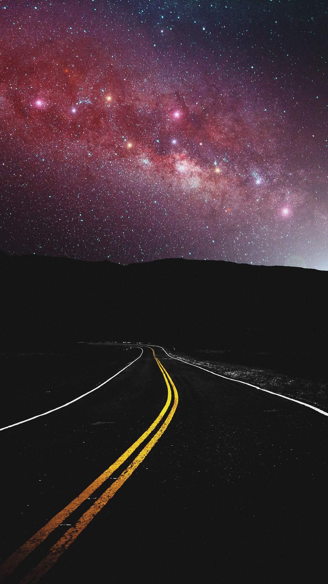 Deadpool Iphone Wallpaper Cute Milky Way View From Road Iphone Wallpaper Iphone Wallpapers