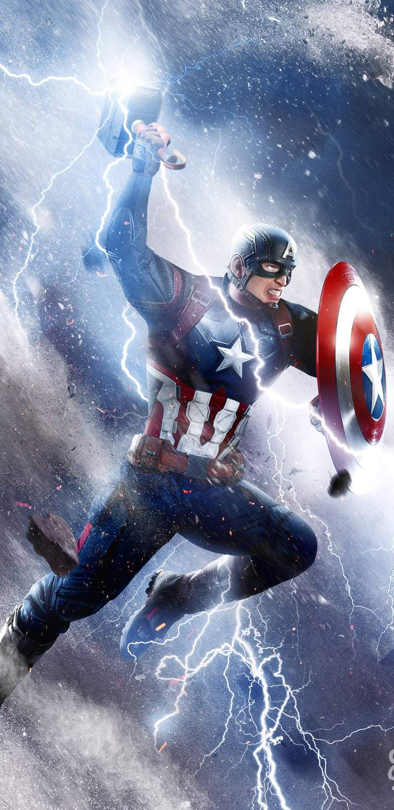 Cute Christmas Wallpaper Quotes Captain America Thor Hammer Attack Iphone Wallpaper