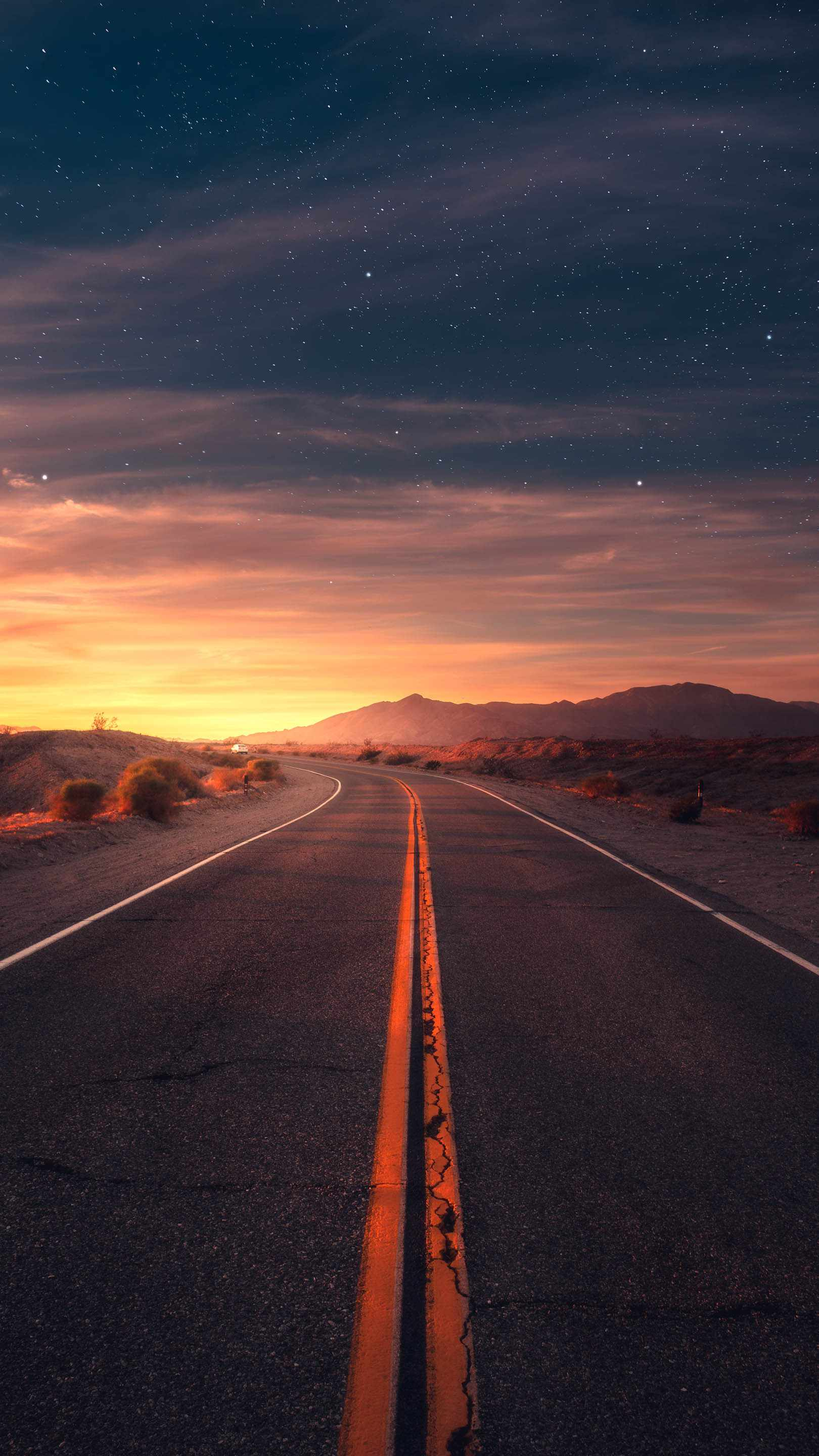 Nature Images Wallpapers With Quotes Desert Road Sunrise Iphone Wallpaper Iphone Wallpapers