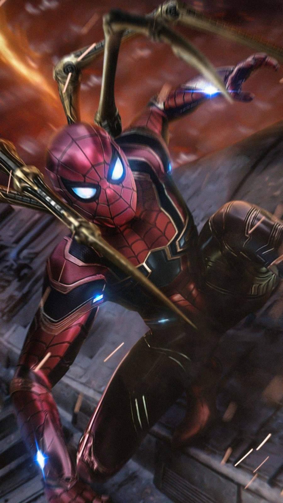 Spiderman Hd Wallpaper Iron Spiderman Endgame Action Iphone Wallpaper Iphone