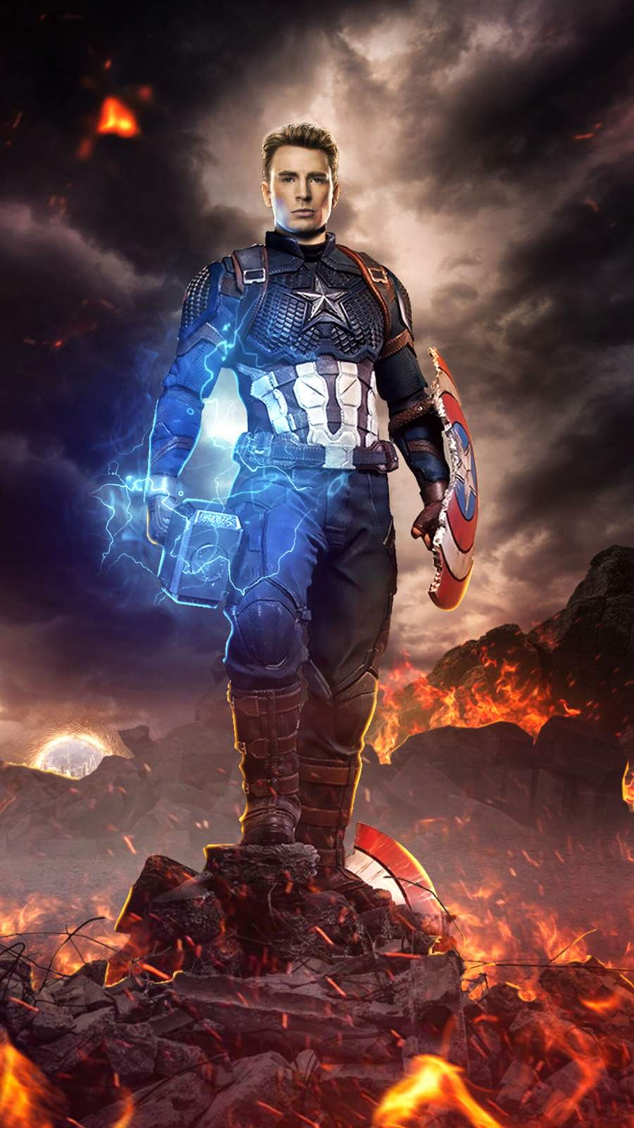 Love Cute Wallpapers With Quotes Captain America Final Battle Worthy Mjolnir Iphone