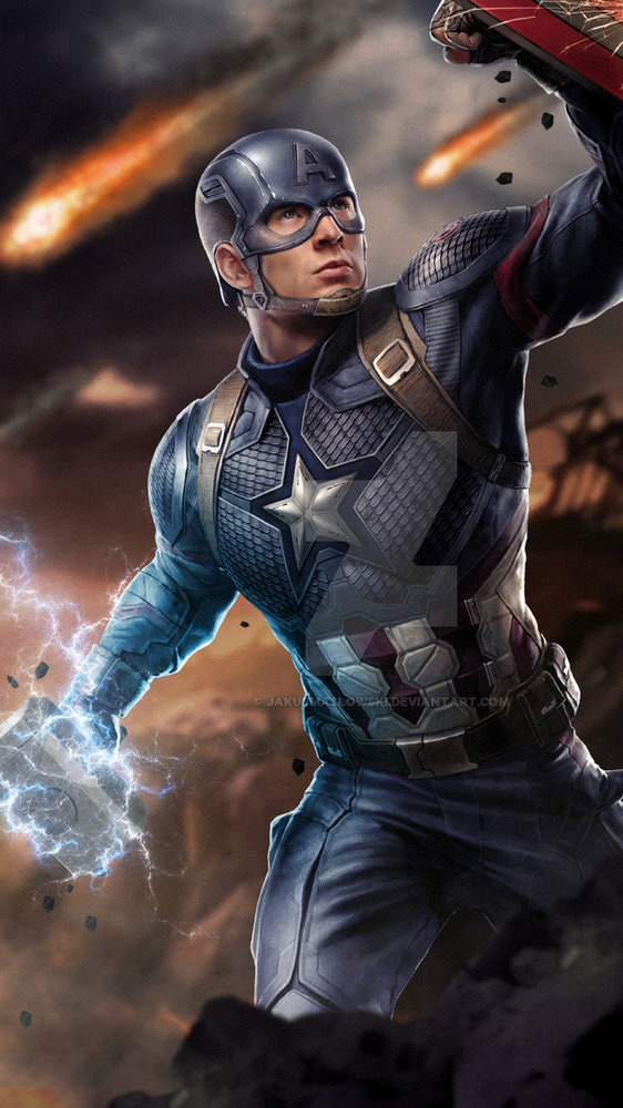 Fake Smile Quotes Wallpapers Captain America Holding Thor Hammer Mjolnir Iphone