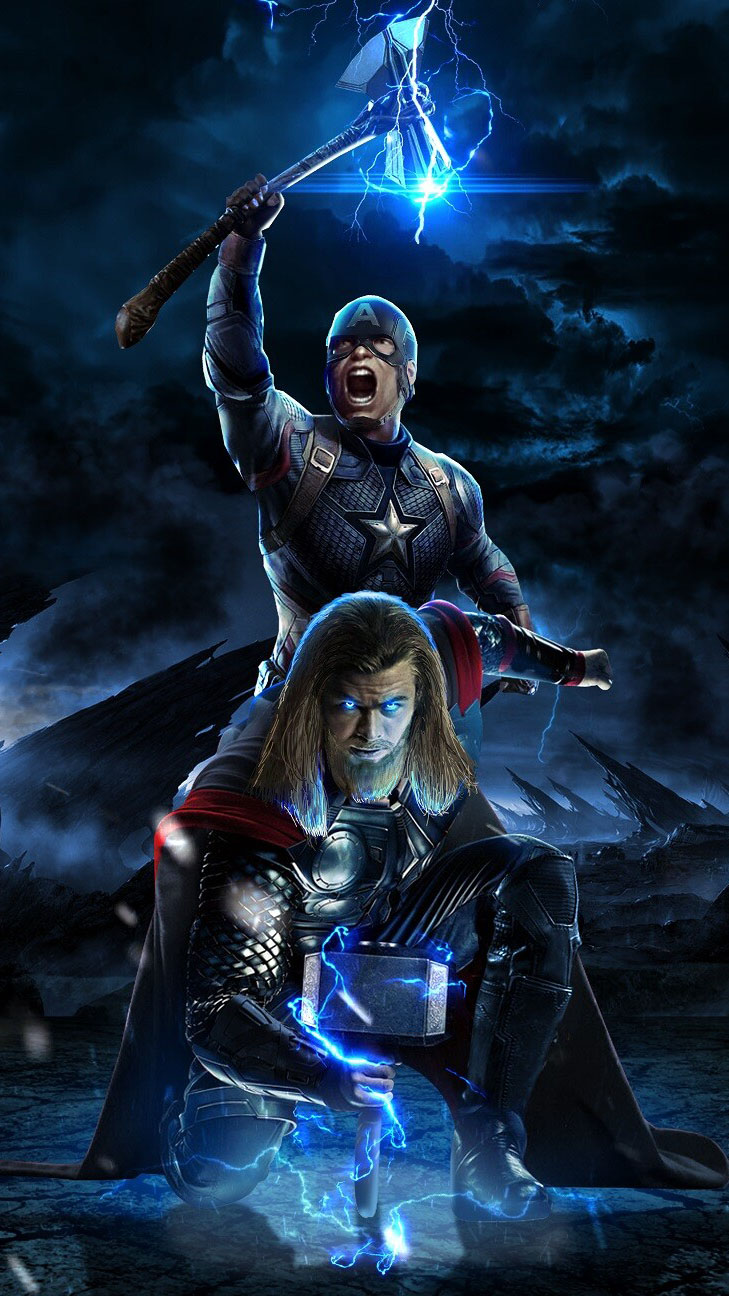Cute Face Wallpaper For Iphone Captain America And Thor Avengers Endgame Battle Iphone