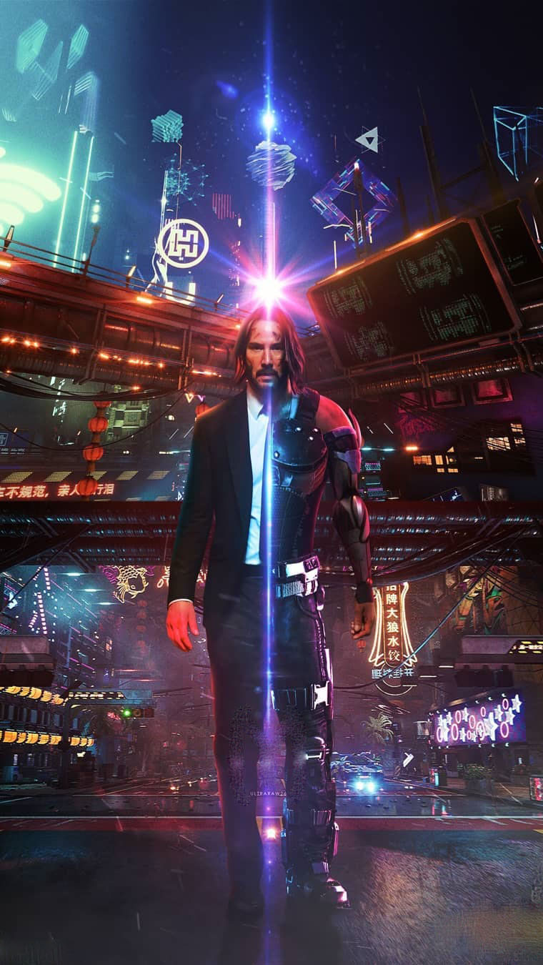 Halloween Wallpapers Cute Cyberpunk 2077 Keanu Reeves John Wick Iphone Wallpaper