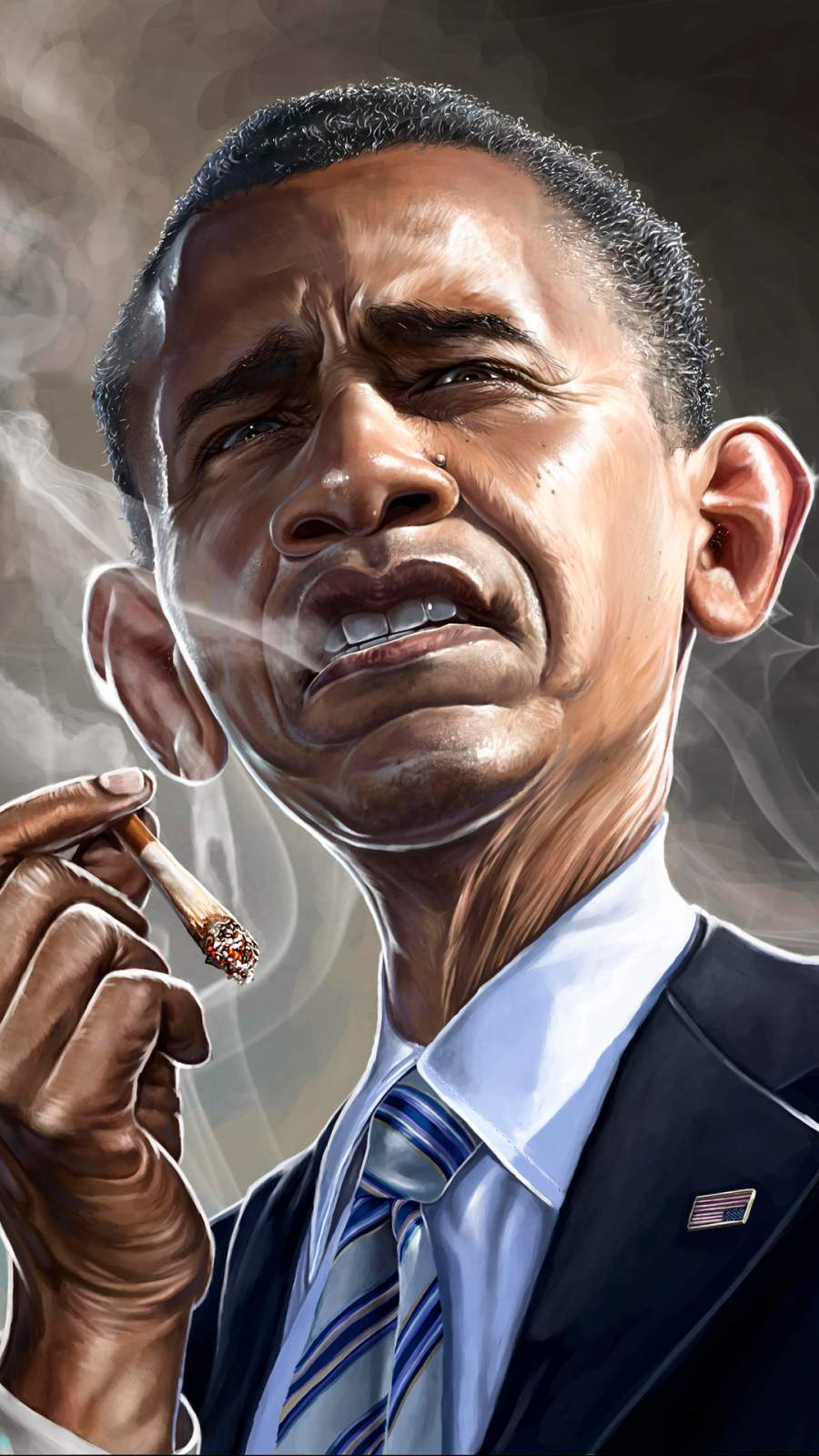 Anime Lonely Girl Wallpaper Barack Obama Smoking Iphone Wallpaper Iphone Wallpapers